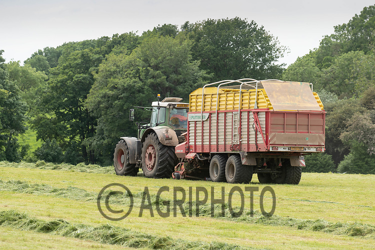 7-6-2021 Dairy farmer using a forage wagon to collect grass silage.<br /> ©Tim Scrivener Photographer 07850 303986<br />      ....Covering Agriculture In The UK....
