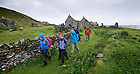 June 7, 2012; Team members leave camp for digging work, Inishark Island, Ireland...Photo by Matt Cashore/University of Notre Dame