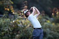 SAPPHIRE, NC - OCTOBER 01: Jonathan Lumley of Stetson University tees off at The Country Club of Sapphire Valley on October 01, 2019 in Sapphire, North Carolina.