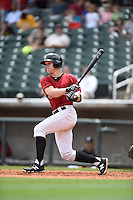 ***Temporary Unedited Reference File***Birmingham Barons right fielder Josh Richmond (27) during a game against the Pensacola Blue Wahoos on May 2, 2016 at Regions Field in Birmingham, Alabama.  Pensacola defeated Birmingham 6-3.  (Mike Janes/Four Seam Images)