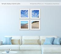 Sample layout of 4-print photo split