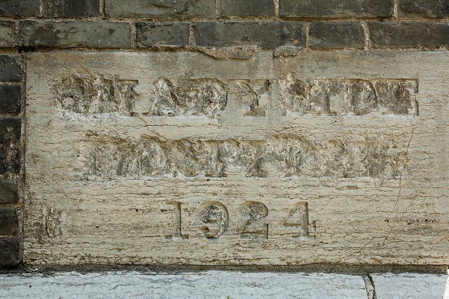 The Shadyside Hospital foundation stone (presumably after a visit from Red Guards in the 1960s).