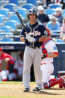 New Hampshire Fisher Cats outfielder Darin Mastroianni #14 during a game against the Reading Phillies at FirstEnergy Stadium on May 5, 2011 in Reading, Pennsylvania.  New Hampshire defeated Reading by the score of 10-5.  Photo By Mike Janes/Four Seam Images
