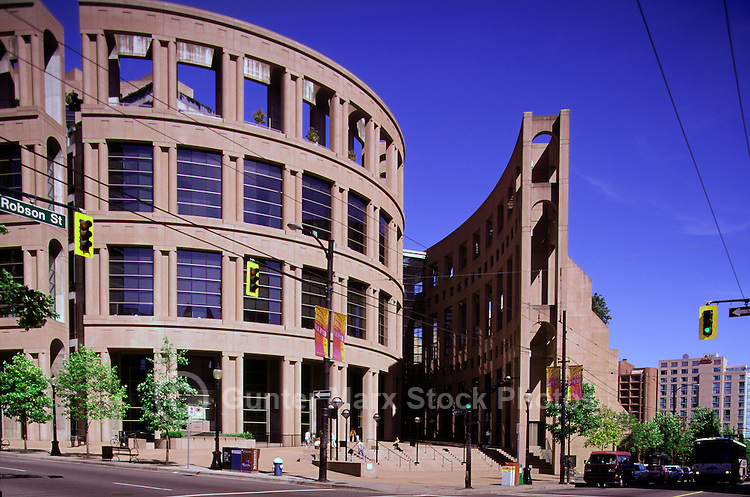 Vancouver Public Library at Library Square, Downtown Vancouver, BC, British Columbia, Canada - Moshe Safdie Architect