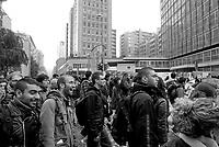 milano, mobilitazione degli studenti per ottenere un treno a prezzo politico con cui andare a roma alla manifestazione nazionale contro la riforma dell'istruzione  --- milan, students demonstrate for a train to rome at subsidized price, in order to participate at the national demonstration against the school reform