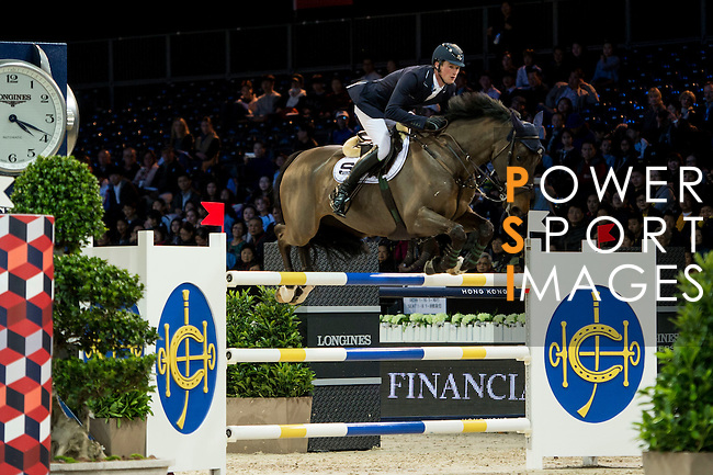 Daniel Deusser on Hidalgo V. competes during competition Table A Against the Clock at the Longines Masters of Hong Kong on 19 February 2016 at the Asia World Expo in Hong Kong, China. Photo by Li Man Yuen / Power Sport Images