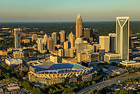 Charlotte North Carolina  Aerial Skyline Photography