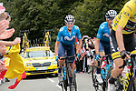 Enric Mas Nicolau and Alejandro Valverde (ESP) Movistar Team climb Col de Marie Blanque during Stage 9 of Tour de France 2020, running 153km from Pau to Laruns, France. 6th September 2020. <br /> Picture: Colin Flockton   Cyclefile<br /> All photos usage must carry mandatory copyright credit (© Cyclefile   Colin Flockton)