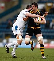 Photo: Richard Lane/Richard Lane Photography. London Wasps v Exeter Chiefs. 12/02/2012. Wasps' Ed O'Donoghue attacks.