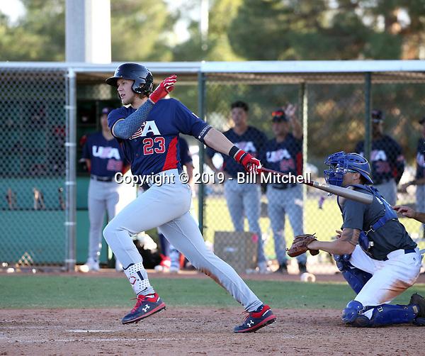Alec Bohm - USA Baseball Premier 12 Team - October 25- 28, 2019 (Bill Mitchell)