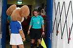 Chesterfield 1 Accrington Stanley 2, 16/09/2017. Proact Stadium, League Two. Referees Assistant and mascot in the tunnel shortly before kick off,  Photo by Paul Thompson.
