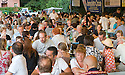 """SAGRA DEL """"PESCE E PATATE"""" 2011, BARGA, ITALY<br /> <br /> THE VISITORS ENJOY THEIR FISH AND CHIPS."""