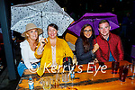 Enjoying the outdoor weather and having their umbrellas ready in Scotts Hotel in Killarney on Saturday, l to r: Tanya O'Connell, Majella O'Driscoll, Clodagh Ryan and Patrick Lucey (Rathmore)