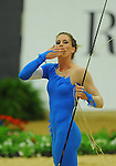 8 October 2010: Mary Mccormick (USA) performs during the Vaulting Techincals in the World Equestrian Games in Lexington, Kentucky