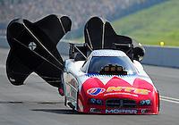 Jun. 19, 2011; Bristol, TN, USA: NHRA funny car driver Johnny Gray during eliminations at the Thunder Valley Nationals at Bristol Dragway. Mandatory Credit: Mark J. Rebilas-