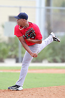 Boston Red Sox pitcher Francelis Montas #70 during an Instructional League game against the Minnesota Twins at Red Sox Minor League Training Complex in Fort Myers, Florida;  October 3, 2011.  (Mike Janes/Four Seam Images)