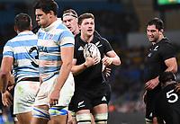 12th September 2021; Cbus Super Stadium, Robina, Queensland, Australia; Rugby International series, New Zealand versus Argentina:  Dalton Papalii celebrates his try.