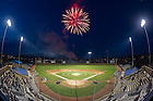 Apr. 29, 2011; Postgame fireworks at Eck Baseball Stadium...Photo by Matt Cashore/University of Notre Dame