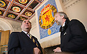 :: FIRST MINISTER ALEX SALMOND IS SHOWN THE REFURBISHMENT WORKS CURRENTLY BEING DONE AT STIRLING CASTLE'S ROYAL PALACE BY HEAD OF COLLECTIONS, RICHARD WEALANDER :: THE FIRST MINISTER WAS AT THE CASTLE TO ANNOUNCE DETAILS OF THE RENAISSANCE ROYAL PALACE OPENING EVENT ::