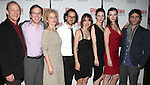 Mark Blum, Jeremy Shamos, Amy Irving, Director Sam Gold, Playwright Zoe Kazan, Jessica Collins, Betty Gilpin & Oscar Isaac.attending the Opening Night Party for the MTC's Production of  'We Live Here' at the Beacon Restaurant in New York City.
