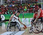 Peter Won, Rio 2016 - Wheelchair Basketball // Basketball en fauteuil roulant.<br /> The Canadian men's wheelchair basketball team face Turkey in their final round of preliminary play // L'équipe canadienne masculine de basketball en fauteuil roulant affronte la Turquie lors de sa dernière ronde de match préliminaire. 12/09/2016.