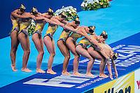 Team France FRA<br /> Synchro Women's Team Free Final Free Routine - Kazan Arena<br /> Day08 31/07/2015<br /> XVI FINA World Championships Aquatics Swimming<br /> Kazan Tatarstan RUS July 24 - Aug. 9 2015 <br /> Photo A.Masini/Deepbluemedia/Insidefoto