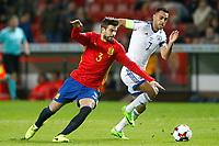 Spain's Gerard Pique (l) and Israel's Eran Zahavi during FIFA World Cup 2018 Qualifying Round match. March 24,2017.(ALTERPHOTOS/Acero) /NortePhoto.com