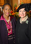 """Suzette Caldwell and Martha Turner at a tea honoring Caldwell's book """"Praying to Change Your Life"""" at the St. Regis Hotel Wednesday Sept. 16, 2009. (Dave Rossman/For the Chronicle)"""