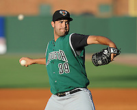RHP B.J. Salsbury (39) of the Augusta GreenJackets, Class A affiliate of the San Francisco Giants, in a game against the Greenville Drive on June 7, 2010, at Fluor Field at the West End in Greenville, S.C. Photo by: Tom Priddy/Four Seam Images