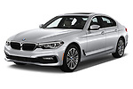 2018 BMW 5 Series 530i 4 Door Sedan angular front stock photos of front three quarter view