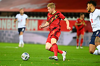 15th November 2020; Leuven, Belgium;  Kevin De Bruyne forward of Belgium during the UEFA Nations League match group stage final tournament - League A - Group 2 between Belgium and England