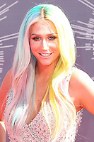 LOS ANGELES, CA, USA - AUGUST 24: Kesha arrives at the 2014 MTV Video Music Awards held at The Forum on August 24, 2014 in the Los Angeles, California, United States. (Photo by Xavier Collin/Celebrity Monitor)