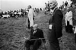 Eyam Plague Memorial Service, Eyam, Derbyshire England 1973 Procession. <br /> <br /> My ref 17a/612/1973