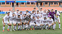 Houston, TX - Friday December 11, 2016: The Stanford Cardinal pose for a photo after winning the College Cup against the Wake Forest Demon Deacons at the NCAA Men's Soccer Finals at BBVA Compass Stadium in Houston Texas.