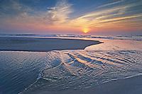 Tidal Pool, incoming tide, Atlantic Ocean, at sunset, Cape May, New Jersey