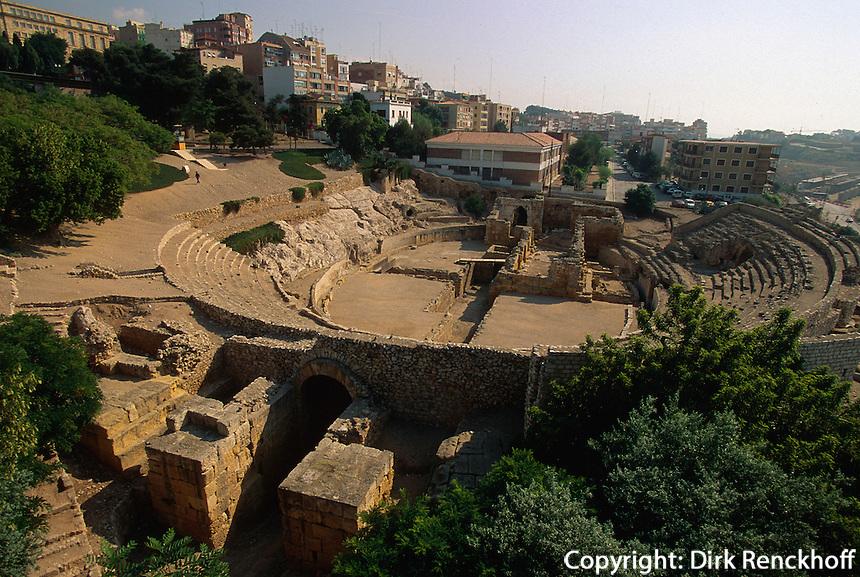 Spanien, Katalonien, Tarragona, Amphitheater