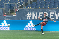 FOXBOROUGH, MA - SEPTEMBER 02: Alexander Buttner #28 of New England Revolution passes the ball during a game between New York City FC and New England Revolution at Gillette Stadium on September 02, 2020 in Foxborough, Massachusetts.