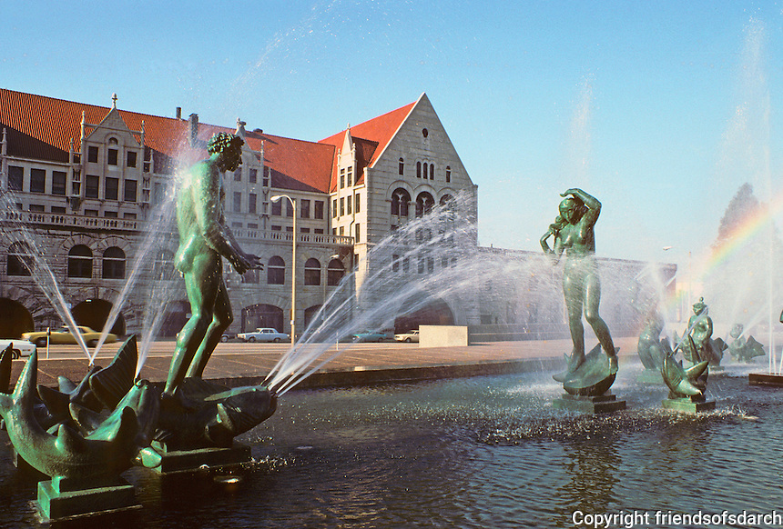 St. Louis: Union Station, Fountain. Carl Milles, Sculptor. Photo '78.