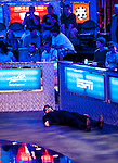 Phil Hellmuth rests during a commercial break