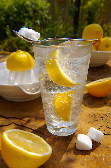 Home made lemonade outside