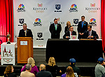 LOUISVILLE, KY - MAY 01: Activities commence for the Kentucky Derby Post Draw at Churchill Downs on May 1, 2018 in Louisville, Kentucky. (Photo by Scott Serio/Eclipse Sportswire/Getty Images)
