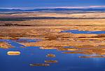 Buena Vista Ponds at sunrise from Buena Vista Lookout, Malheur National Wildlife Refuge, southeastern Oregon..#2394-2649