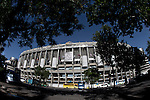 Santiago Bernabeu Stadium is located in the 'Paseo de la Castellana' Street in Madrid. It is Real Madrid' Stadium. May 14, 2014. (ALTERPHOTOS/Caro Marin) Real Madrid and Atletico de Madrid will play the final of the Champions League in Lisbon the next 24th of May. It is the first time in the final of the Champions League that two teams are from the same city.