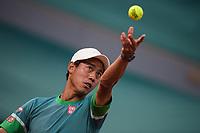 6th June 2021; Roland Garros, Paris France; French Open tennis championships day 8;  Kei Nishikori ( Japan )