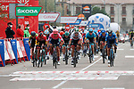 Magnus Cort Nielsen (DEN) EF Pro Cycling wins the sprint for Stage 16 of the Vuelta Espana 2020, running 160km from Salamanca to Ciudad Rodrigo, Spain. 6th November 2020. <br /> Picture: Luis Angel Gomez/PhotoSportGomez | Cyclefile<br /> <br /> All photos usage must carry mandatory copyright credit (© Cyclefile | Luis Angel Gomez/PhotoSportGomez)