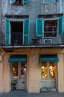 French Quarter, New Orleans, Louisiana.  Shop Selling Artistic Home Decorative Furnishings.