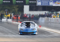 Oct 2, 2020; Madison, Illinois, USA; NHRA pro mod driver Brandon Snider during qualifying for the Midwest Nationals at World Wide Technology Raceway. Mandatory Credit: Mark J. Rebilas-USA TODAY Sports