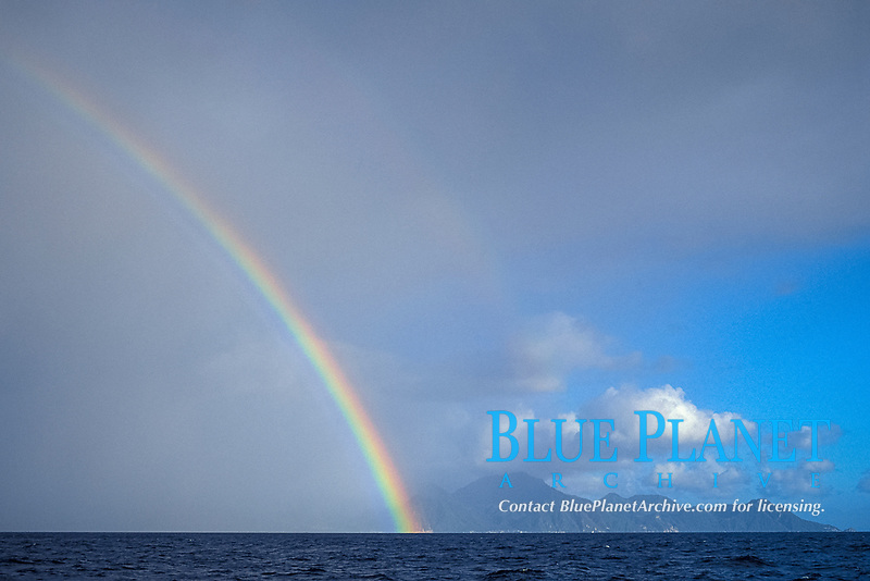 rainbow over Commonwealth of Dominica, West Indies (Eastern Caribbean), Atlantic