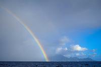 rainbow over Commonwealth of Dominica, West Indies (Eastern Caribbean), Atlantic