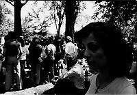 Jeunes dans un parc, juillet 1973<br /> <br /> <br /> PHOTO :  Alain Renaud - Agence Quebec Presse